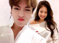 Ulzzang Couple, Ulzzang Girl, Foto Jungkook, Bts Jimin, Bts Girl, Kpop Couples, Bts Imagine, Blackpink And Bts, Bts Concert