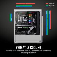 Corsair iCUE 220T RGB Airflow Mid-Tower PC Gaming Smart Case, Tempered Glass - White: Amazon.com.au: Computers & Accessories Electric Mirror, Pc Components, Window Panels, Wood Doors, Computer Accessories, Light Up, Improve Yourself, Tower, Computers