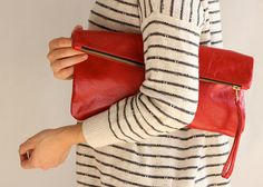 foldover clutch by LeahLerner