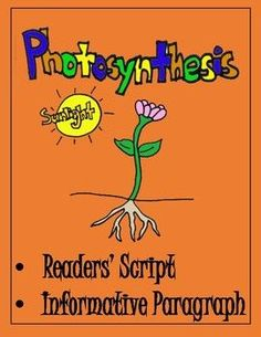 Learning about photosynthesis hasn't ever been this fun! Your students will get the inside scoop on how plants make their own food. In addition to learning important an science concept, reading fluency and writing practice make this activity a great addition to your classroom.