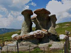 The megaliths of Romania. '' Babele '' to the Bucegi Mountains.