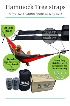 Hammock tree straps are the perfect Christmas gift for an Outdoorsy person, a camping lover, one who loves to read in a hammock. Perfect for a family too! Hammock Tree Straps, Diy Hammock, Hammocks, Outdoor Activities For Kids, Physical Activities, Backpacking Hammock, Kids Swing, Camping With Kids, Perfect Christmas Gifts