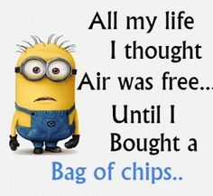 The Minions~ I love me some air chips. Fat free, calories free, crunch free and taste free.