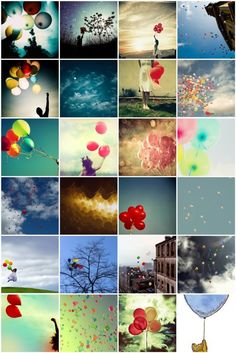 cheerful balloons