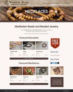 Customized WordPress WooCommerce Design for Warrior Beads Portfolio Web Design, Bead Shop, Beaded Jewelry, Wordpress, Beads, Things To Sell, Beading, Bead, Pearl Jewelry