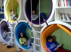 Things to Consider before Making Kids Playground Design - Kindergarten innenraum Things to Consider before Making Kids Playground Design Salas de aula Play Spaces, Learning Spaces, Kid Spaces, Play Areas, Kindergarten Design, Kids Library, Library Plan, School Library Design, Playground Design