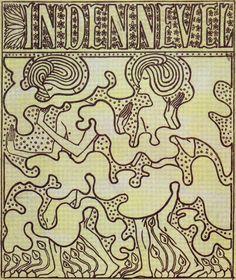 Omslagontwerp voor het studententijdschrift In den nevel (1897)