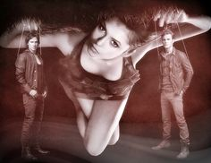 Elena, Damon, and Stefan. TVD.
