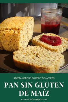 Recipe: Corn Gluten Free Bread- Check here how to prepare a delicious gluten-free or dairy-free bread, ideal for sandwiches and to spread it with your favorite jam # SinLácteos - Dairy Free Bread, Gluten Free Pasta, Gluten Free Dinner, Lactose Free, Gluten Free Recipes, Gluten Free Cornbread, Gluten Free Chocolate Chip Cookies, Pan Bread, Sans Gluten