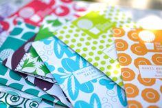 Zaden in kleurige zakjes