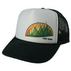 f0b12321abaed Green Tahoe Trees Trucker Hat- Dark Green