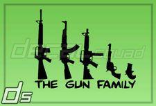 Gun Family Vinyl Decal Truck Car Window Sticker