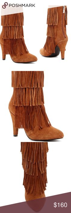 Catherine Malandrino Fringe Boots Gorgeous NWT Catherine Malandrino boots in perfect condition. 40vcff Catherine Malandrino Shoes Heeled Boots
