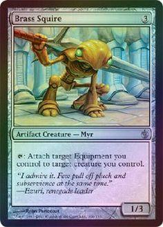 Magic The Gathering MTG Brass Squire Mirrodin Besieged (Foil) Condition: NM/M uncommon $1.00