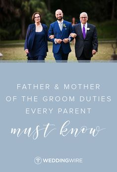 The father and mother of the groom have lots of duties they'll need to be ready to tackle. Here's a parent of the bride checklist to help 'em out! Wedding Etiquette, Mother Pictures, Groom Pictures, Wedding To Do List, Wedding Guest List, Wedding Ideas, Grooms Parents Responsibilities, Rehearsal Dinner Speech