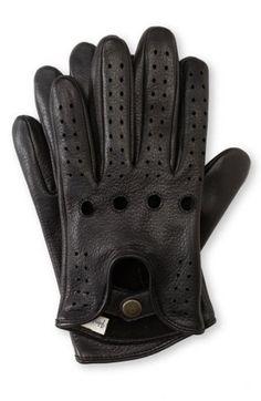 Mens American Made Deerskin Leather Driving Gloves