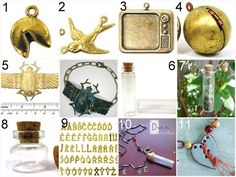 Where do People Get All those Quirky Jewelry Supplies to Make Expensive Jewelry? One Place is ornamentea. Examples all linked.
