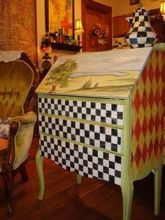 mckenzie childs furniture images | Mackenzie Childs? desk