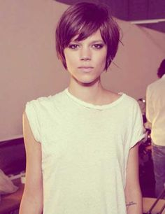 Long Pixie Cut Hairstyle (for growing my hair out) More