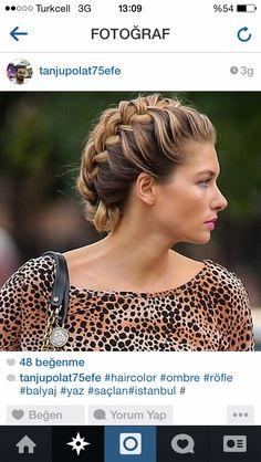 Braided hair- chignon- orgulu toplu sac- topuz- abiye- gunluk sac modelleri- ombre hair/ balyaj- dogal golgeli sac
