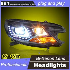 530.10$  Watch now - http://aigu2.worlditems.win/all/product.php?id=32649559806 - car styling For Honda CRV headlights U angel eyes DRL 2012-2014 For Honda CRV LED light bar DRL Q5 bi xenon lens h7 xenon
