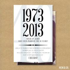 ANNIVERSARY Party Invitation  Surprise anniversary by HENANDCO, $16.00