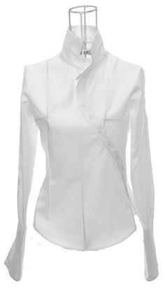 KENMA Coton blanc #KenOkadaParis #JapaneseDesigner #CréateurFrançais #OriginalShirt