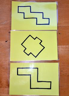 Make your own set of block puzzles...