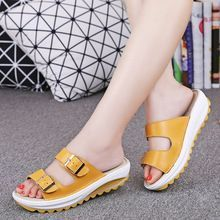 NEW 2016 summer women flat sandals Shoes Leisure slippers slip-on round toe comfortable sandals flip flops female shoes Comfortable Flip Flops, Comfortable Sandals, Leather Sandals, Shoes Sandals, Flat Sandals, Types Of Sandals, Plastic Shoes, Ugly Shoes, Ladies Slips