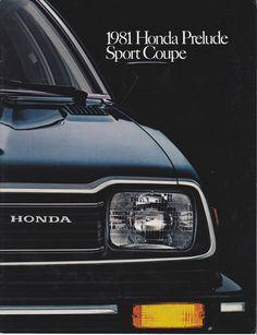 Honda Prelude Mk1 USA Brochure 1981
