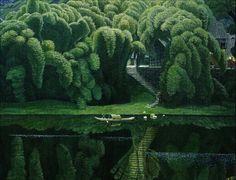 "lushfoxe:"" "" Bottle Brush TreesJian Chong Min"" "" Parks, Beautiful World, Beautiful Places, Beautiful Scenery, Cactus Plants, Landscape Paintings, Landscapes, Suzhou, Amazing Nature"