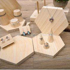 Unpainted Plain Wooden Cone Ring Bearer Jewelry Display Holder Stand Organizer   Orologi e gioielli, Ricambi e accessori gioielli, Espositori   eBay!