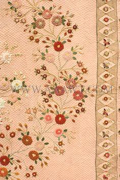 Antique Quilt, le travail de broderie et de la laine, le détail de frontière
