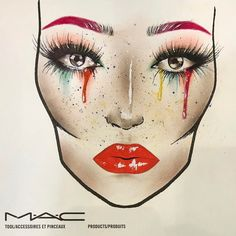 "43 Likes, 5 Comments - dada urcikanova (@dada.u) on Instagram: ""Inspiration is everywhere ✍🏼👄 #macfacechart #facechart #mua #makeup #makeuplover #macslovakia…"""