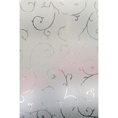"""Light Effects 01-0126 Etched Lace Window Privacy Film, 24"""" x 36"""""""