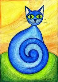 Znalezione obrazy dla zapytania dwa koty rysunek