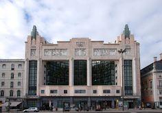 Art Deco | Former Teatro Eden, now the Orion Eden Hotel, Lisbon, Portugal. Designed by Cassiano Branco and Carlo Florencio Dias, 1931