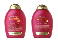 OGX's Anti-Breakage Keratin Oil shampoo and conditioner bring dull, damaged hair back to life. OGX SHAMPOO, KERATIN OIL, $7.99, DRUGSTORE.COM; OGX CONDITIONER, KERATIN OIL, $7.99, DRUGSTORE.COM