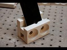 Make a wooden speaker dock - YouTube