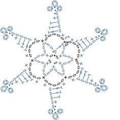 Schneeflöckchen hehäkelt... schöne Winterapplikation