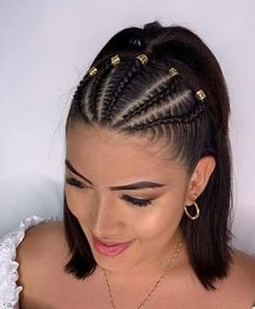 Braids for sports short hair 54 cool short braids hairstyle ideas pinokyo braids cool hairstyle ideas nicehairstyleshalfup pinokyo short Braided Ponytail Hairstyles, Baddie Hairstyles, Box Braids Hairstyles, Cool Hairstyles, Hairstyle Ideas, Braids Into Ponytail, Cool Braids, Braids For Short Hair, Kid Braids