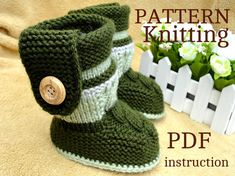 Knitting PATTERN Baby Booties PATTERN Knit Baby by Solnishko43