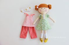 Charla makes the most adorable dolls, and she's hosting a giveaway for one and the dress, panties, hair bow, shoes, socks, pajamas, and sleeping mask to dress their doll up! Giveaway up until Oct. 13/14!