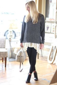 #4 Layer a thin sweater over to stay warm on those chilly summer nights. Cream Trapeze Dress $88 #freepeople
