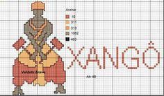 Warrior x-stitch Shango