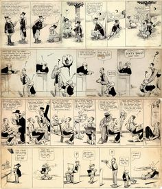 1907 - Mutt & Jeff by Bud Fisher. Commonly regarded as the first daily comic strip.