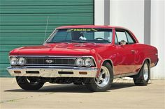 Red 1966 Chevrolet Chevelle SS 396