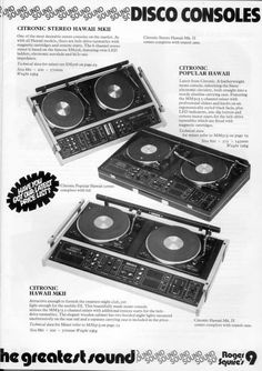 Retro disco consoles