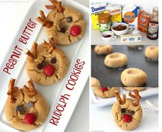 If you are needing a fun Christmas cookie, these Peanut Butter Rudolph Cookies will be perfect. We transform a super simple thumbprint peanut butter cookie into a Rudolph the Red Nosed Reindeer. So fun! Peanut Butter Pretzel, Peanut Butter Cookies, Best Christmas Cookies, Reindeer Christmas, Online Cookbook, Spritz Cookies, Mini Chocolate Chips, Vegetarian Chocolate, Holiday Treats