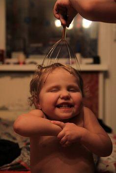 head massage contraption = cute face